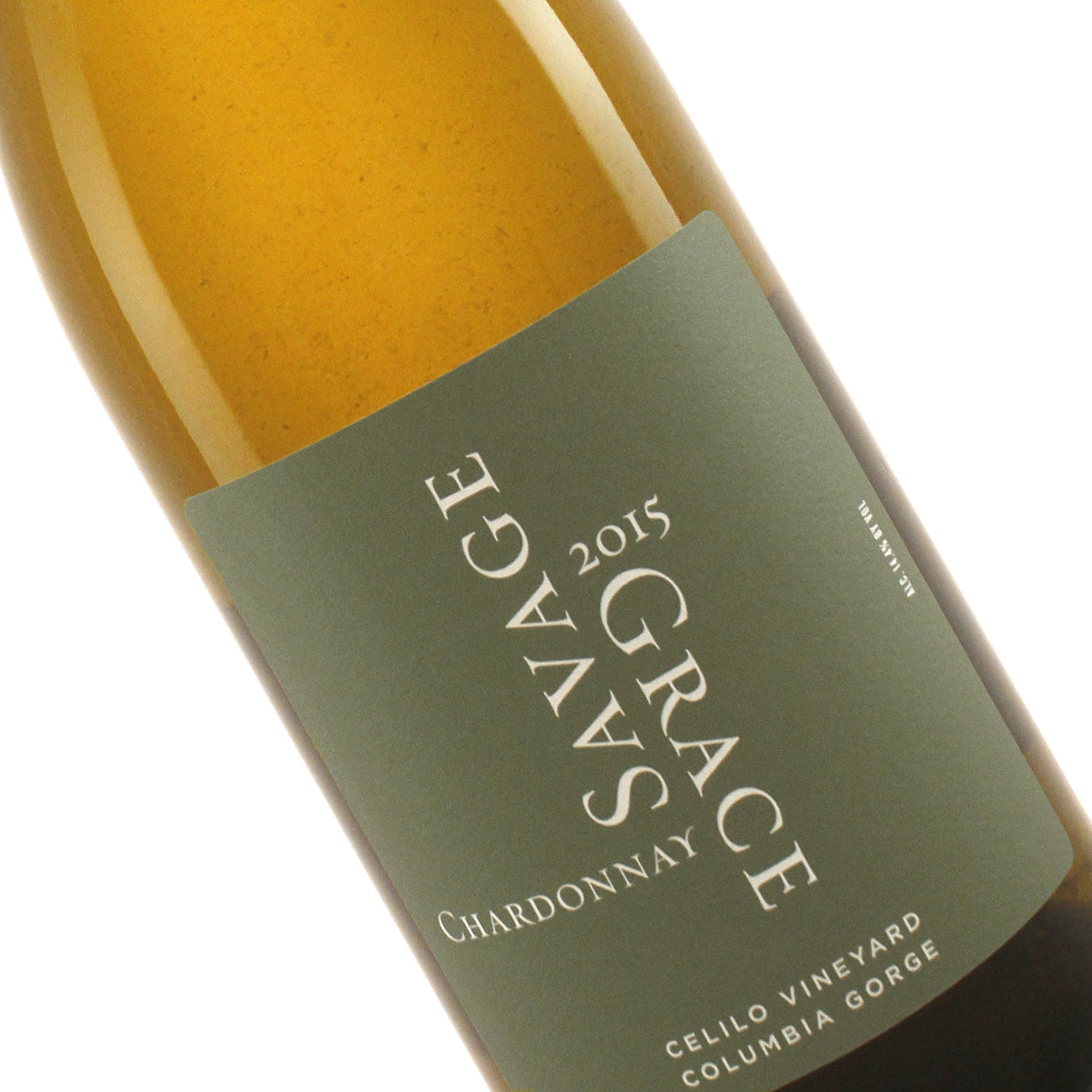 Savage Grace 2015 Chardonnay Celilo Vineyard, Columbia Gorge, Washington