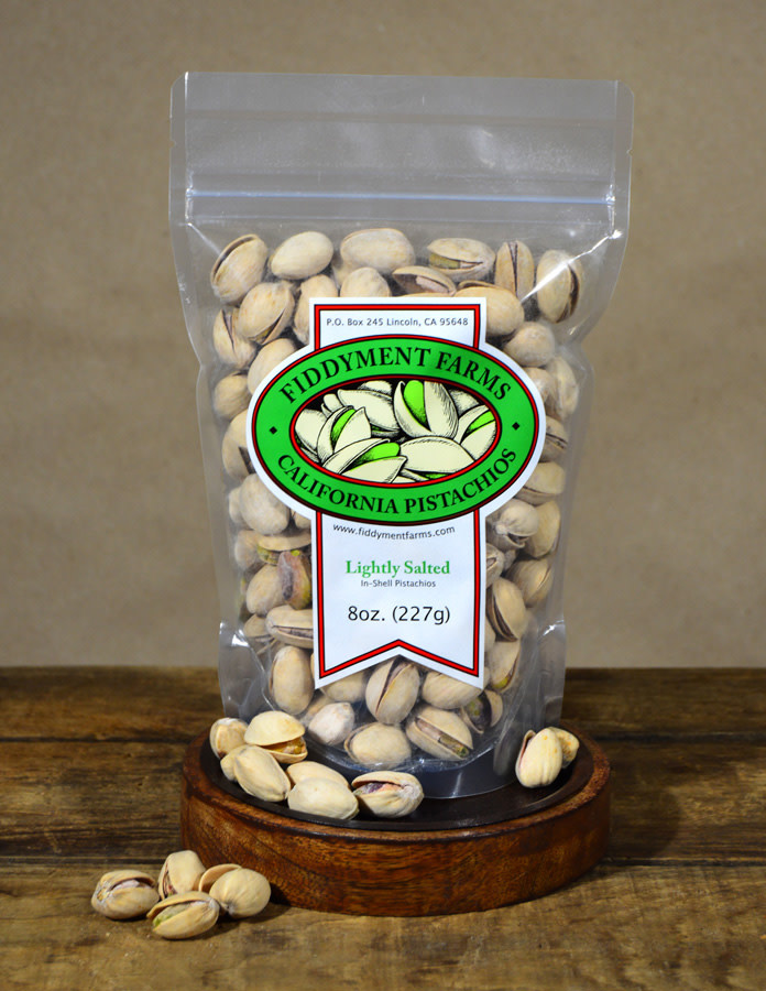 Fiddyment Farms Lightly Salted In-Shell Pistachios 8oz., California
