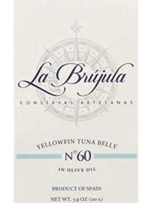 """La Brujula No. 60 Yellowfin Tuna Belly """"Ventresca"""" in Olive Oil, Spain"""