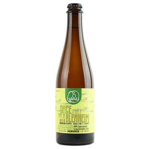 """8 Wired Brewing """"Once Upon A Time In Blenheim"""" 2014 Lambic Style Ale 500ml. New Zealand"""