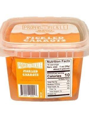 Proper's Pickle Pickled Carrots, 16 oz.