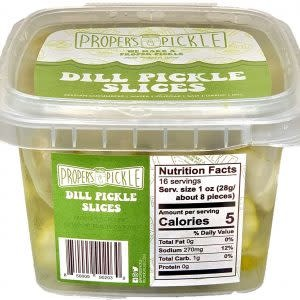 Proper's Pickle Dill Pickle Slices, 12 oz.