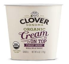 Clover Sonoma Organic Cream on Top Forest Berry Yogurt, 6oz