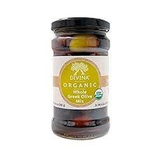 Divina Organic Greek Olive Mix, Greece, 10.2 oz. jar