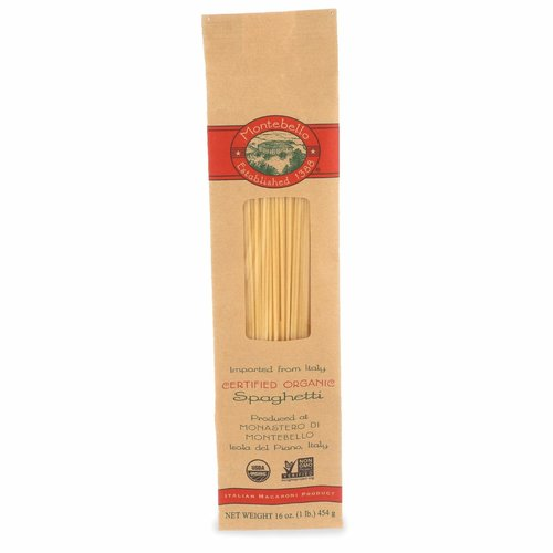 Montebello Organic Spaghetti Pasta 16 oz, Isola del Piano, Marche, Italy