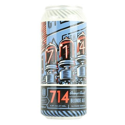 "Bottle Logic Brewing ""714"" Blonde Ale, California - 16oz can"