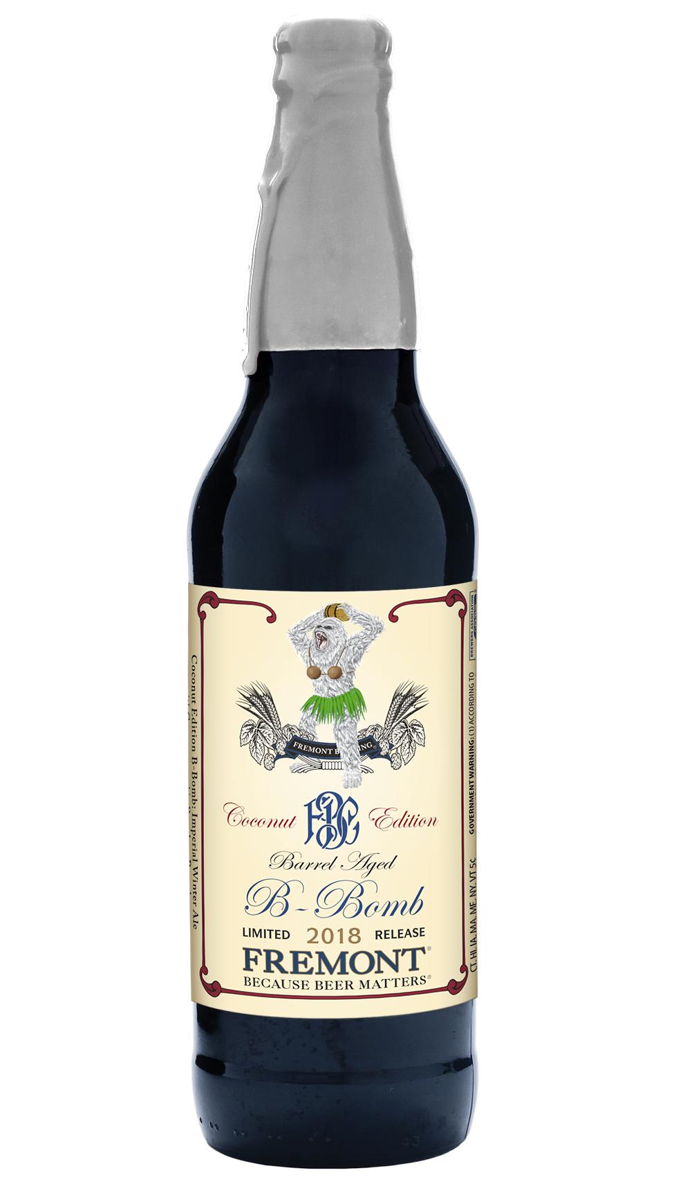 """Fremont """" BA B-Bomb"""" Coconut Edition Bottle 22oz Imperial Winter Ale"""