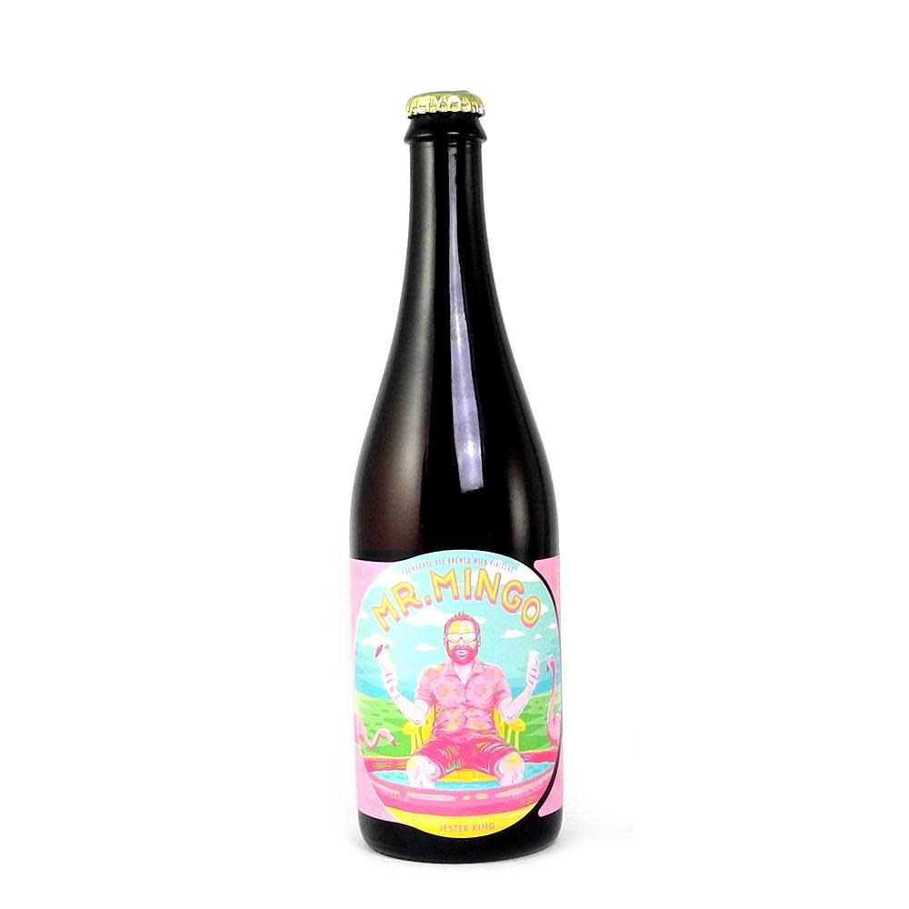"Jester King Brewery ""Mr Mingo"" Farmhouse Ale w/ HIbiscus 750ml. Austin, TX"