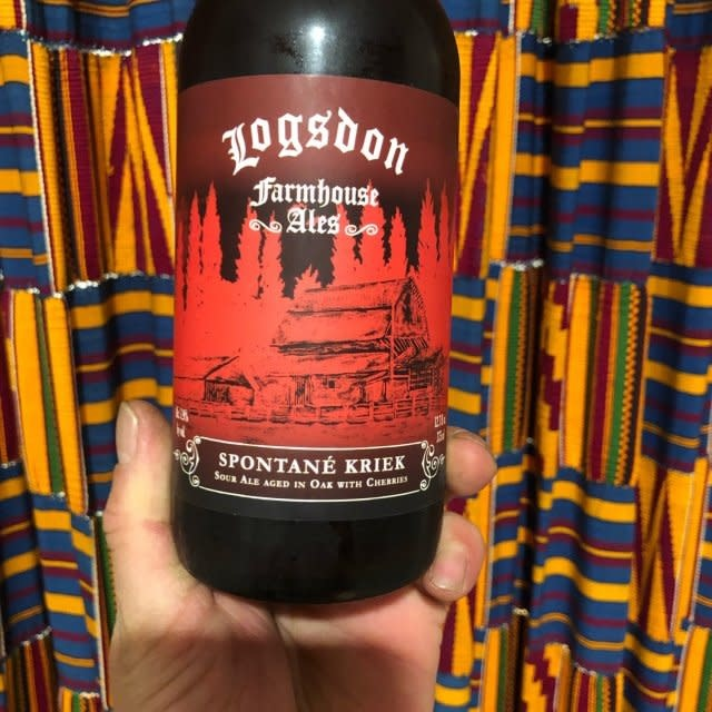 """Logsdon """" Spotane Kriek"""" Farmhouse Ale 375ml bottle- Hood River, Oregon"""