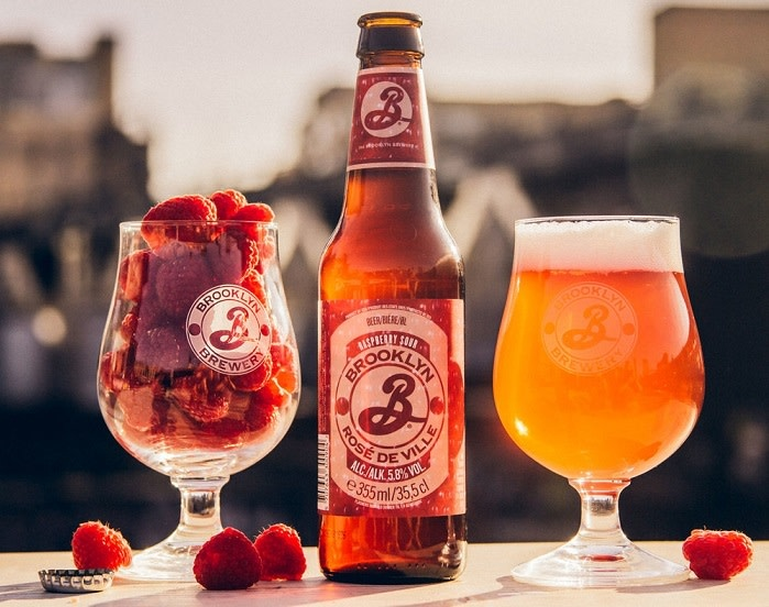 "Brooklyn "" Rose De Ville"" Raspberry Sour Ale 12oz bottles-Utica, NY"