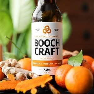 Booch Craft High Alcohol Kombucha Turmeric Tangerine Ginger 22oz. Bottle Chula Vista, Califonia