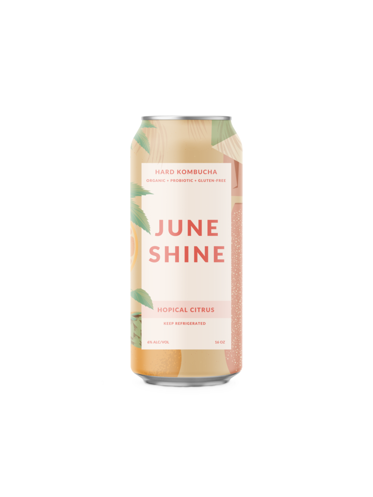 "June Shine ""Hopical Citrus"" Hard Kombucha 12oz. Can San Diego, CA"