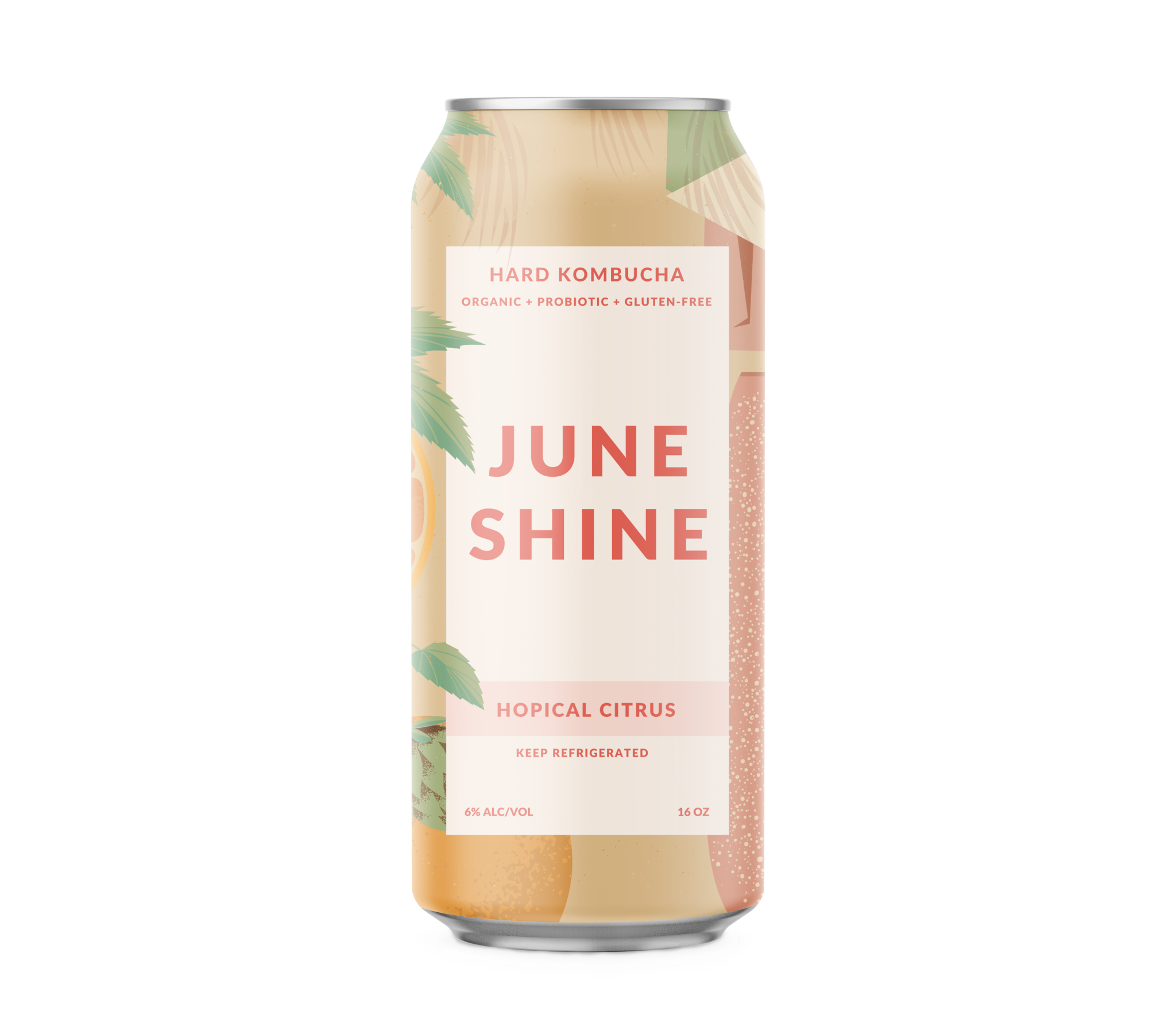 "June Shine ""Hopical Citrus"" Hard Kombucha 12oz. Can San Diego, CA"
