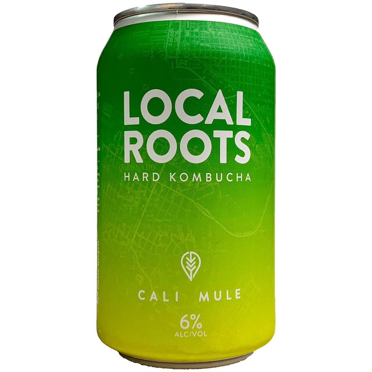"Local Roots ""Cali Mule"" Hard Kombucha 12oz can- Vista, CA"