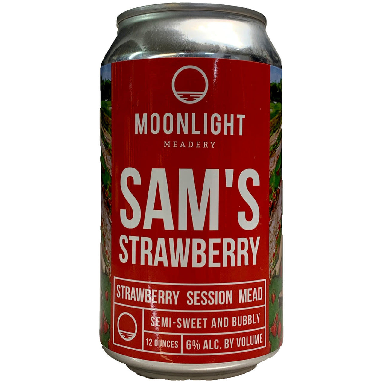 "Moonlight ""Sam's Strawberry"" Session Mead 12oz Can - Londonderry NH"