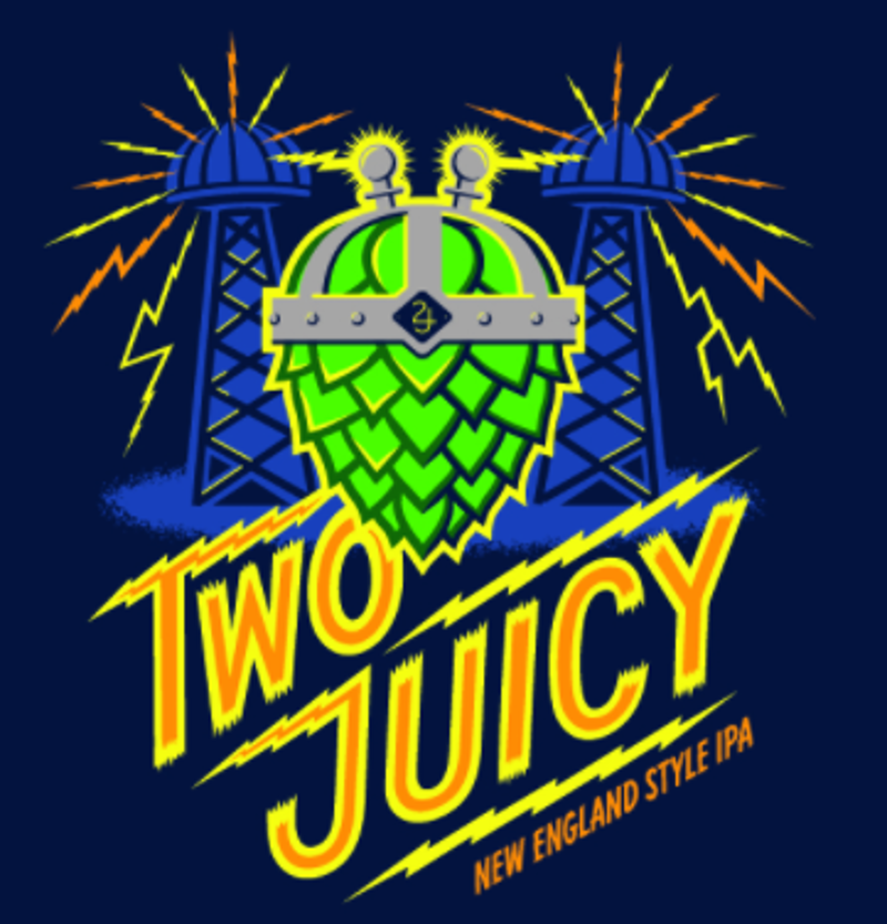 """Two Roads """"Two Juicy"""" Hazy IPA 16oz can-Stratford Connecticut"""