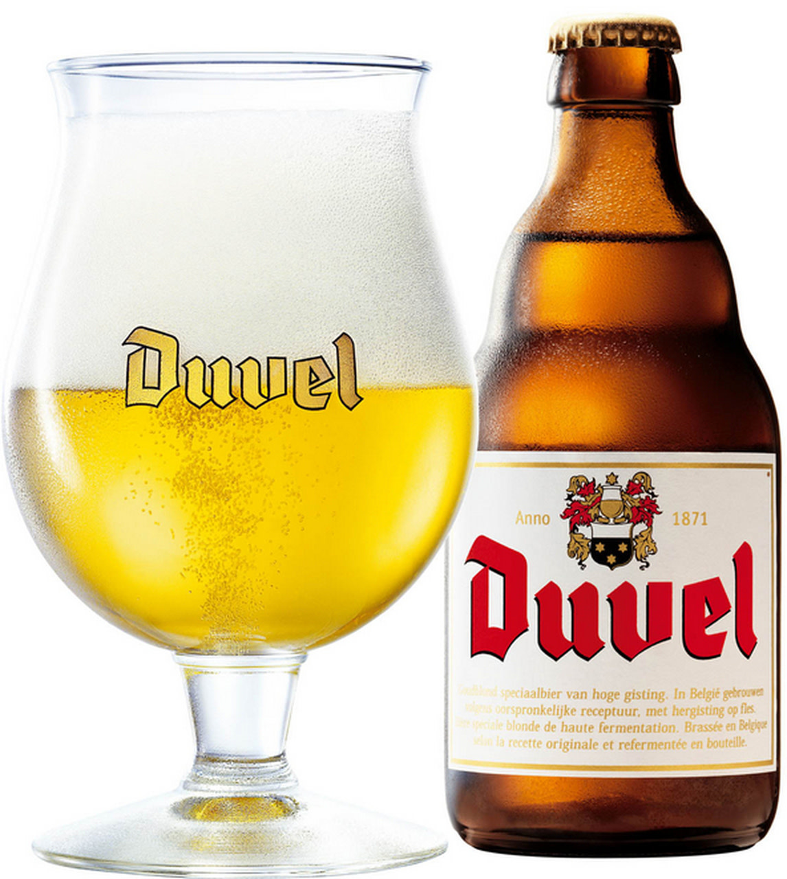 "Duvel ""Belgian Golden Ale"" 11.2oz bottle-Moorgat, Belgium"