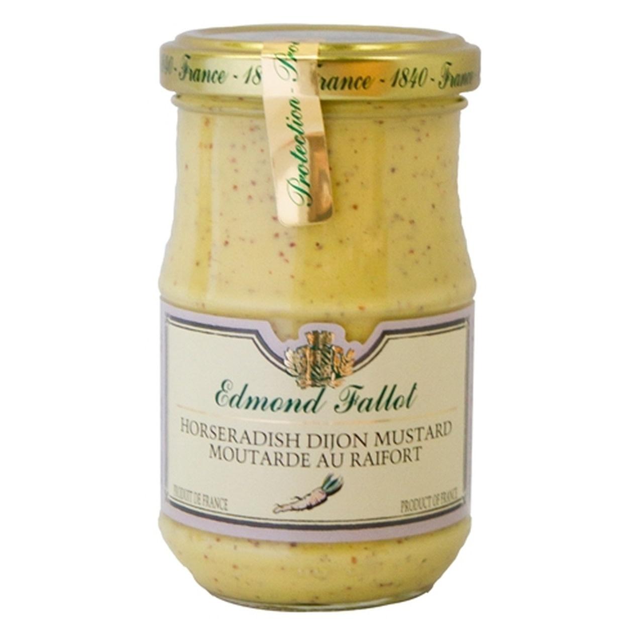 Edmond Fallot Horseradish Dijon Mustard, Moutard au Raifort 7.4 oz.