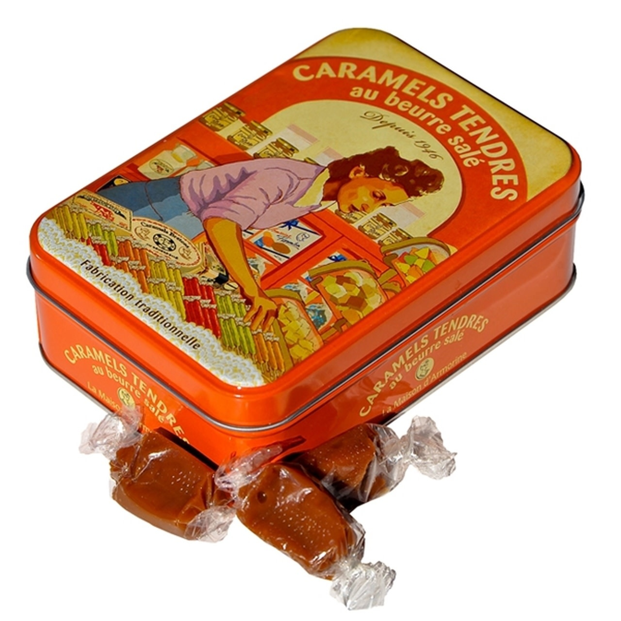 La Maison d'Armorine Salted Butter Caramels in Yvonne Tin 5.3oz, France