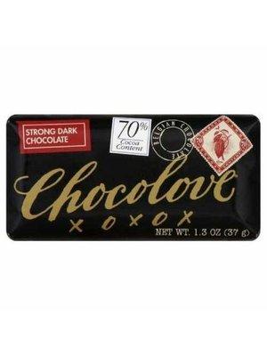 Chocolove 70% Strong Dark Chocolate Mini Bar, Boulder, 1.3 oz.