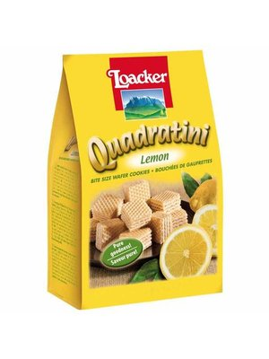 Loacker Quadratini Lemon Wafer Cookies, South Tyrol, Italy