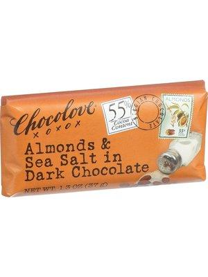 Chocolove Almonds & Sea Salt in Dark Chocolate Mini Bar, Boulder, 1.3 oz.