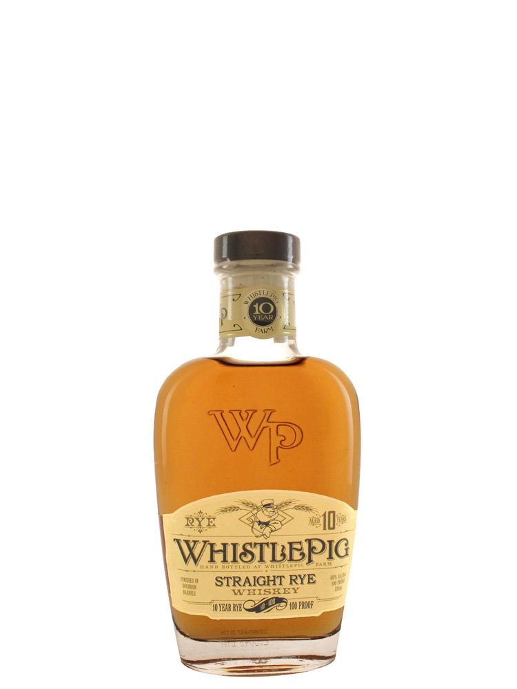 WhistlePig Straight Rye Whiskey Aged 10 Years, Vermont