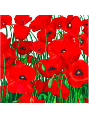 Napkin - PPD - Red Poppies