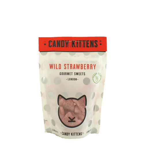 "Candy Kittens ""Wild Strawberry"" Gourmet Gummies 4.4oz, London"