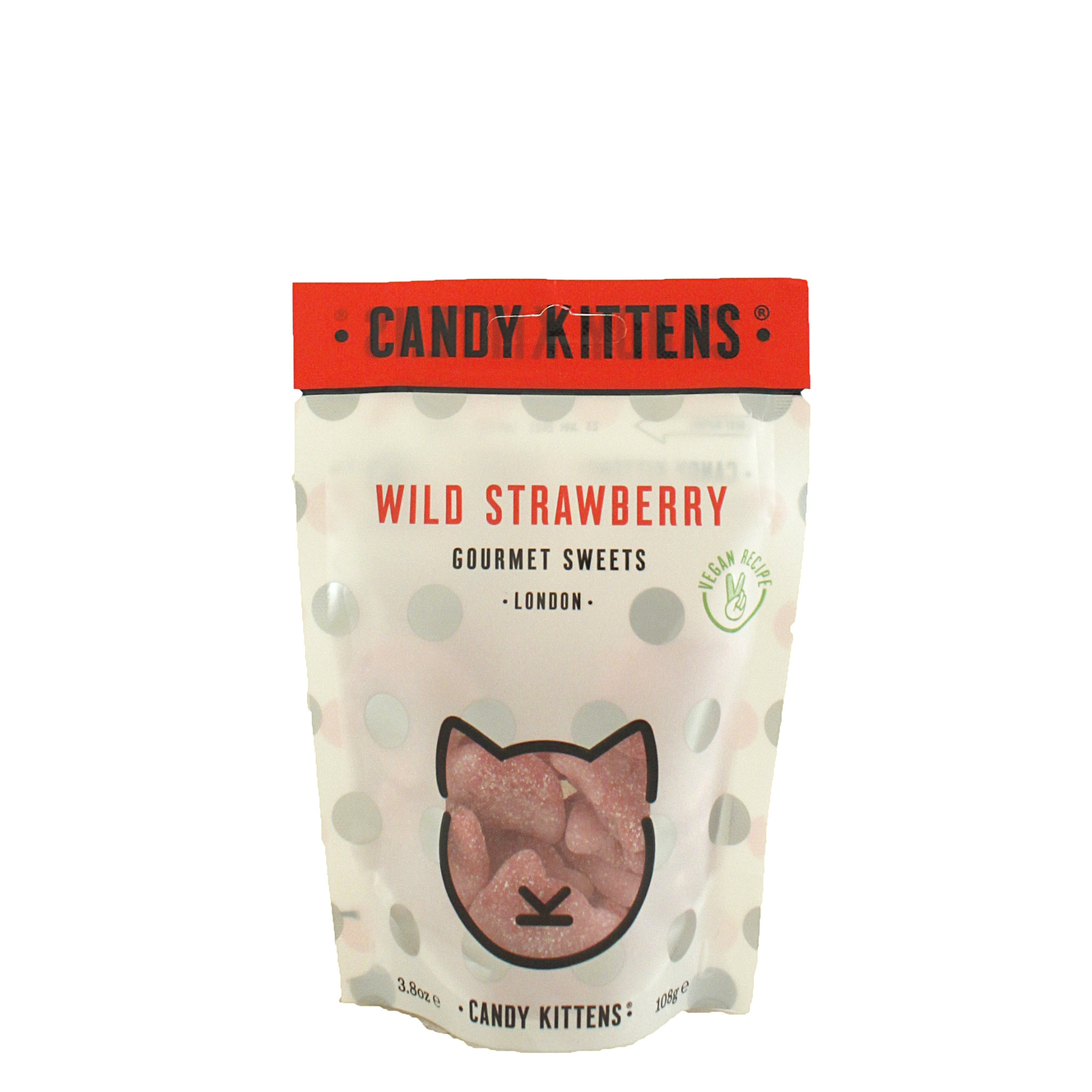 "Candy Kittens ""Wild Strawberry"" Gourmet Gummies 4.4oz, London"