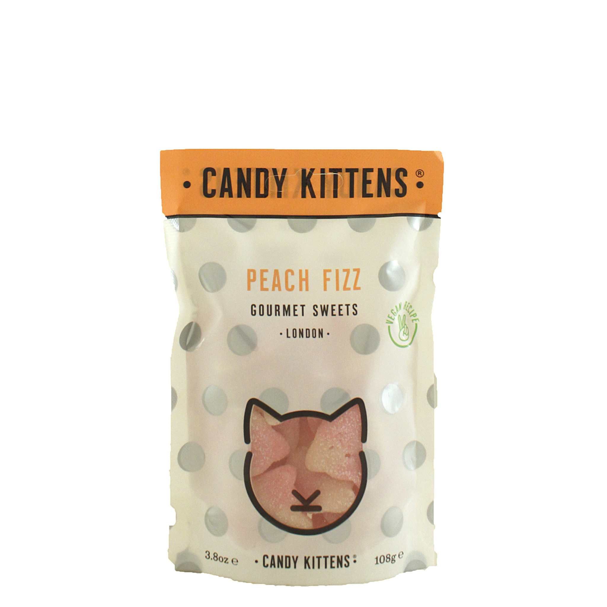 """Candy Kittens """"Peach Fizz"""" Gourmet Gummies, London"""