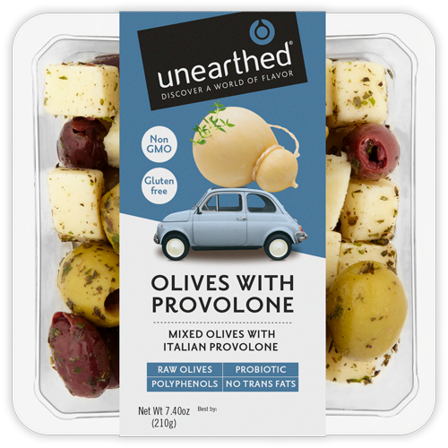 Unearthed Olives With Provolone & MIxed Herbs