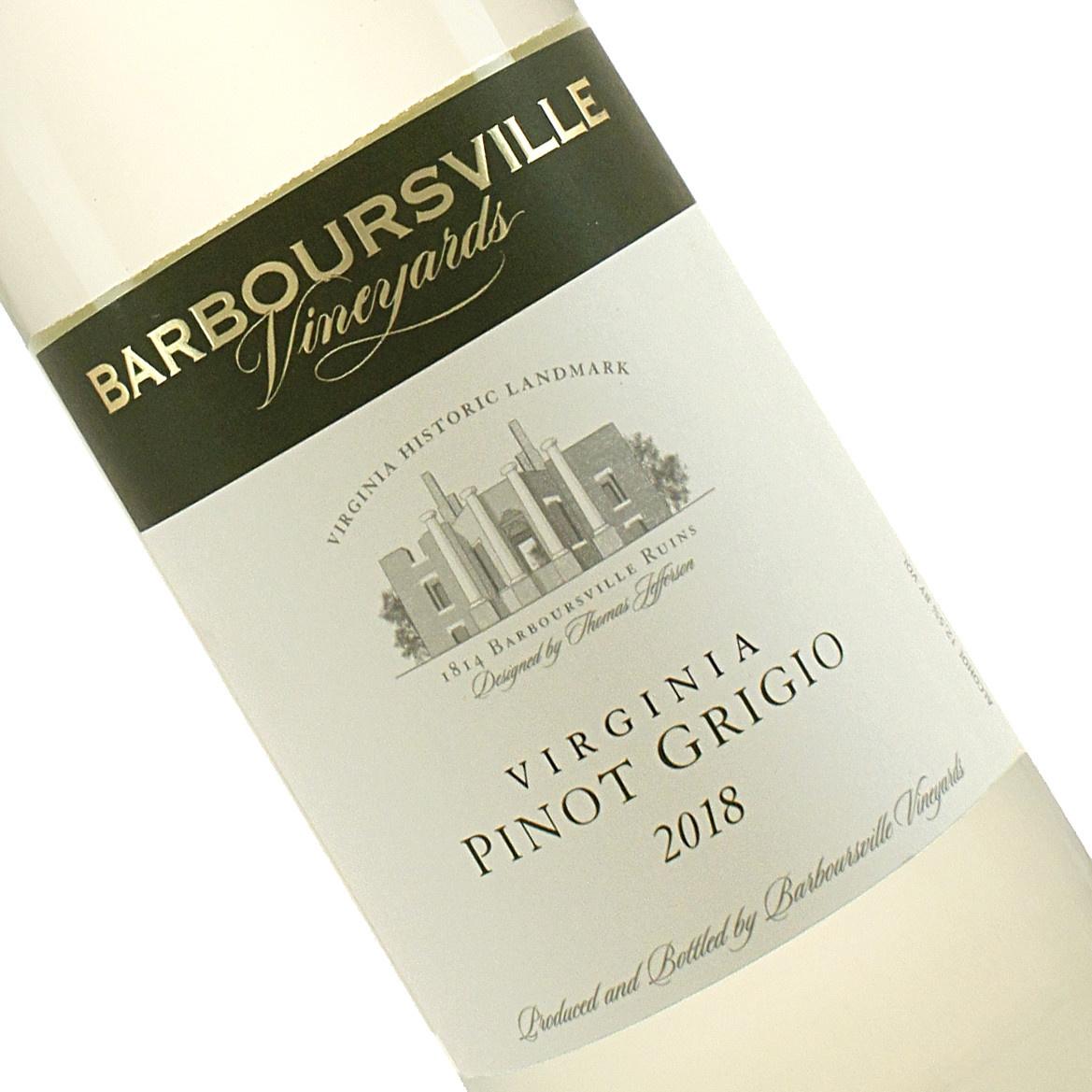 Barboursville 2018 Pinot Grigio, Virginia