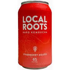 "Local Roots ""Strawberry Mojito"" Hard Kombucha 12oz."