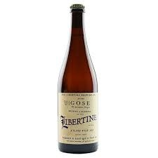 "Libertine Brewing co "" Pacific Ocean Blue Gose"" Gose 375ml bottle- San Luis Obispo, CA"
