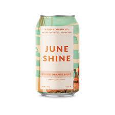 """June Shine """"Blood Orange Mint"""" Hard Kombucha 12oz Can - San Deigo CA"""