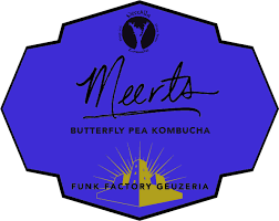 """Funk Factory """"Meerts""""  Kombucha with Butterfly Pea 750ml  Madison, Wisconsin"""