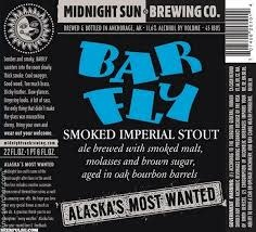 "Midnight Sun Brewing ""Bar Fly"" Smoked Imperial Porter 22oz bottle-Anchorage Alaska"