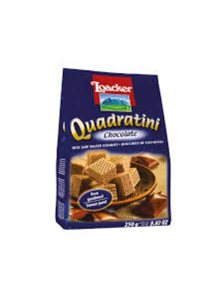 Loacker Quadratini Chocolate Wafer Cookies, South Tyrol, Italy