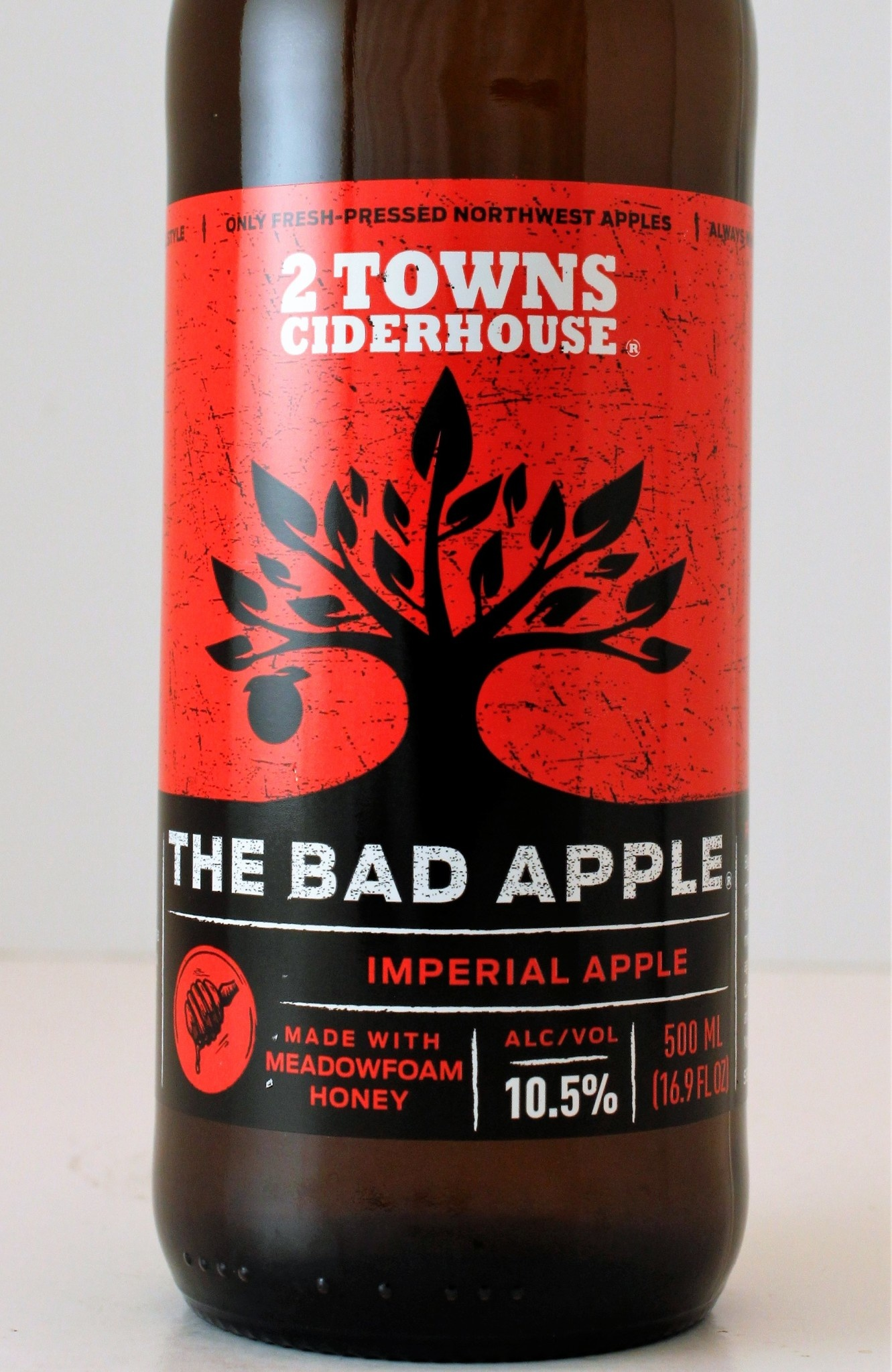 """2 Towns Ciderhouse """"The Bad Apple"""" Imperial Apple Cider, Corvallis, Oregon"""