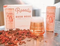"""Firestone Walker """"Rosalie"""" Rose HIbiscus & Wine Grapes 12oz can-Paso Robles, CA"""