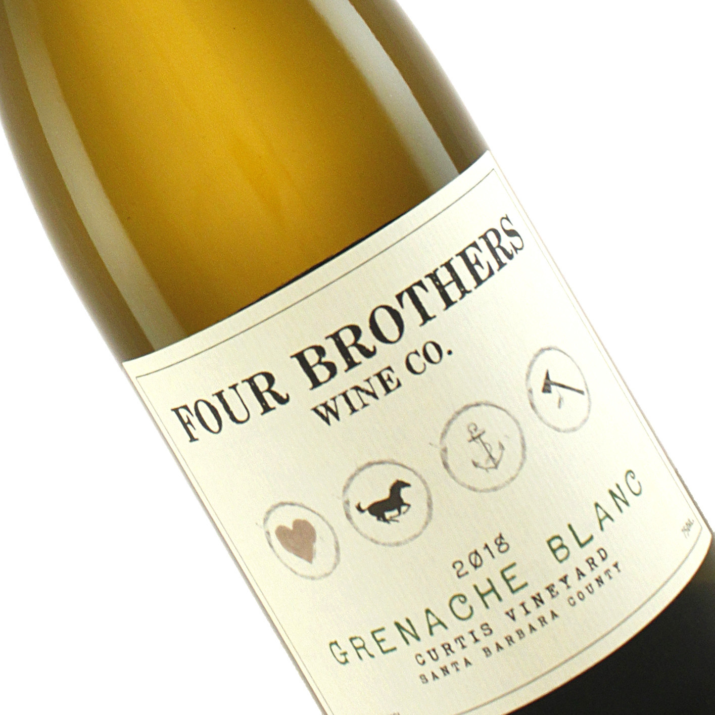 """Four Brothers 2018 """"Curtis"""" Grenache Blanc"""