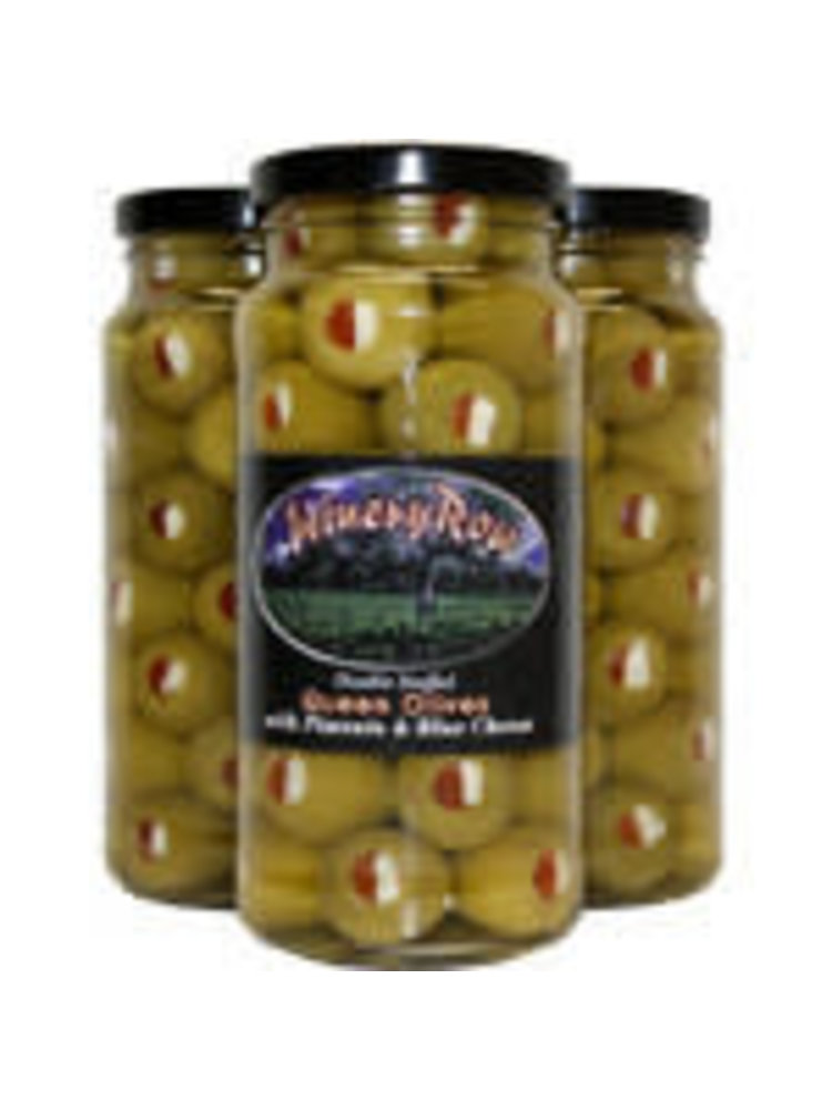 Winery Row Queen Olives Stuffed w/ Bleu Cheese & Pimento, 10oz.