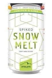 """Upslope Brewing """"Spiked Snow Melt"""" Hard Seltzer Juniper & Lime 12oz. Boulder, Colorado"""