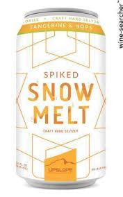 """Upslope Brewing """"Spiked Snow Melt"""" Hard Seltzer Tangerine & Hops 12oz. Boulder, Colorado"""