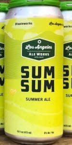 "Los Angeles Ale Works ""Sum Sum"" Summer Ale 16oz can-Hawthorne, CA"