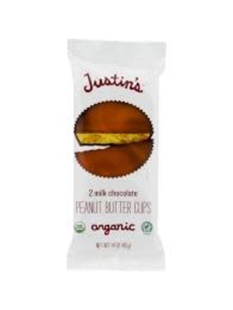 Justin's Organic Milk Chocolate Peanut Butter Cups 2 piece