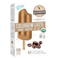 Goodpop Coldbrew Latte Frozen Bars, Austin, Texas 4 pack