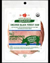 Applegate Uncured Black Forest Ham Sliced, 7oz.