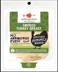 Applegate Organics Smoked Turkey Breast, Sliced 6oz